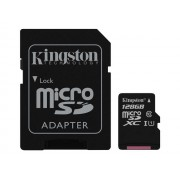 Kingston - Carte mémoire flash (adaptateur microSDXC vers SD inclus(e)) - 128 Go - UHS Class 1 / Class10 - microSDXC UHS-I