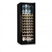 Klarstein Barossa 54S, frigider de vin, 2 zone, 148 l, 54 sticle, ușă de sticlă, touch LED (HEA3-Barossa-46)