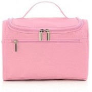 Honestystore Multifunction Zipper Toiletry Bags Travel Organizer Wash Storage Bags Makeup Bags Cosmetic Case - Light Pink(Pink)