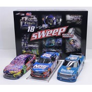 Lionel Racing Kyle Busch 2017 Bristol Sweep 3-Car Set Raced Version Diecasts 1:24 Scale - M&M'S Caramel Monster Energy Cup Series, Nos Xfinity Banfield Camping World Truck Series