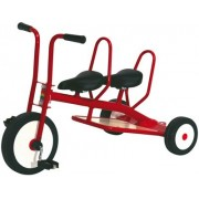 Tricycle 3/6ans Carry 2 Places Rouge