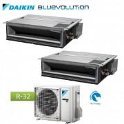 Daikin Climatizzatore Condizionatore Daikin Dual Split Inverter Canalizzabile Serie Fdxm-F R-32 Bluevolution 9000+9000 Con 2mxm40m