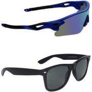 Zyaden Combo of 2 Sunglasses Sport and Wayfarer Sunglasses- COMBO 2806