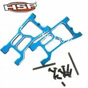Generic 2Pcs HSP 1/16 Upgrade Parts Aluminum Rear Lower Suspension Arm 86605 286021 286621 RC Car Truck Kidking Kingliness Troian METEOR