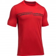 Under Armour Men's Threadborne Cross Chest T-Shirt - Red - M - Red