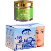 Pink Root Oxy Ice Cool Bleach 250gm and Pink Root Tea Tree Skin Clearing Clay Mask 100gm