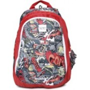 Wildcraft Wiki 6 Streets 4 red 23 L Backpack(Multicolor)