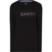 Chasin' Longsleeve met logoprint en mesh