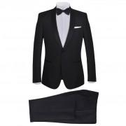 vidaXL Мъжки смокинг костюм от 2 части, 46 размер, черен