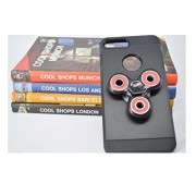 iPhone 7 Plus / 8 Plus Mobile Back Cover Fidget Spinner 608 Four Bearing Premium Quality ABS Material Hand Spinner Tri-Spinner Ultra Speed Toy - Black + Red Wing Bearings