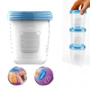ELECTROPRIME Food Grade Silicon Storage Cups for Baby Foods Feeding Breast Milk 180ml