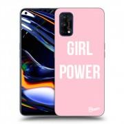Átlátszó szilikon tok az alábbi mobiltelefonokra Realme 7 Pro - Girl power