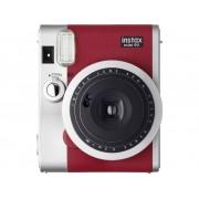 Fujifilm Instax Mini 90 Neo Red Polaroidcamera Rood, Zilver Optische zoeker, Met ingebouwde flitser