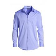 ランズエンド LANDS' END メンズ・ノーアイロン・スーピマ・ピンポイント/無地/ストレートカラー/アドバンスフィット/長袖/シャツ(ライトブルー)