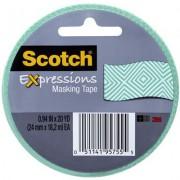 SCOTCH 3437-P1 EXPRESSION MASKING TAPE MINT MOSAIC