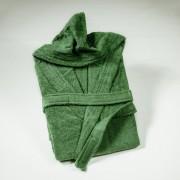 "Халат с качулка ""Grassy Green"" - 100% Памук"