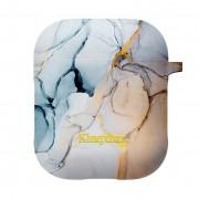 Kingxbar AirPods szilikon tartó sárga márvány