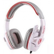 SADES SA-708 Stereo Gaming Headset with Microphone (White)