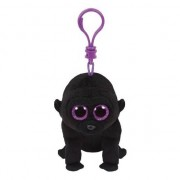 Ty Beanie Gorilla Ty Beanie George sleutelhanger 12 cm