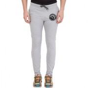 Cliths Men's Light Grey Slim Fit Zeep Printed Trackpant
