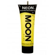 Vegaoo Gul ansikts- och kroppsgel från Moonglow® till UV-partyt One-size