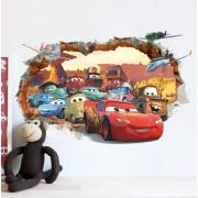 Samolepka na stenu Cars 3D efekt Blesk Mc Queen