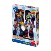 Puzzle 4 in 1 Toy Story 4 Dino Toys, 54 piese, 4 ani+
