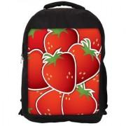 Strawberry Sticker Background Card In Vector Format Designer Laptop Backpacks
