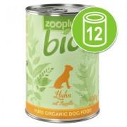 12 x 400 g zooplus Bio Hondenvoer - Kalkoen met gierst - Voordeelpakket