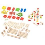 Playtastic Circuit à billes en bois, 100 pièces