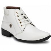 Swagonn White Stylish Elegant Formal Boots
