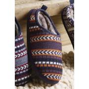 Next Chevron Knitted Mule - Blue/Orange - Mens