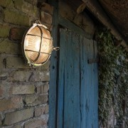 QAZQA Wand- en plafondlamp Nautica rond chroom