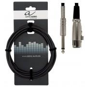 Cablu microfon Alpha Audio XLR Mama - Jack 6.3 9M