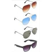 femish Aviator, Wayfarer Sunglasses(Black, Brown, Blue, Violet)