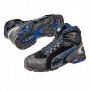 PUMA Chaussures de Sécurité Montante PUMA Metro Protect 63.225.0 Rio Black MID S3 SRC noire / Bleue - Taille - 42