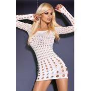Rocker white dress sukienka (biały)