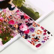 Para Nokia 7 Plus Patron De Grandes Flores En Relieve Suave TPU Claro Aceite Nuevo Estuche Protector