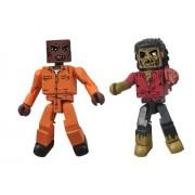 Diamond Select Toys Walking Dead Minimates Series 3 Dexter and Dreadlock Zombie Action Figure