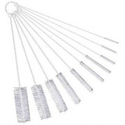 DIY Crafts White 10 Pcs Nylon Tube Brushes Straw Set Cleaning Brush for Multiple Size Straws -for Drinking Straws Glasses Keyboards Jewelry Cleaning