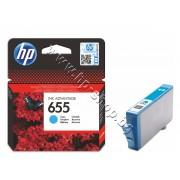 Мастило HP 655, Cyan, p/n CZ110AE - Оригинален HP консуматив - касета с мастило