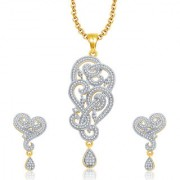 Sukkhi Majestic Gold And Rhodium Plated CZ Pendant Set For Women