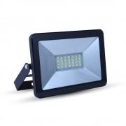 LED reflektor, SMD, Mini, fekete edzett üveg, 20 W, természetes fehér, IP65
