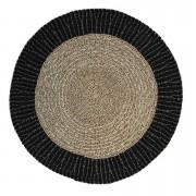 HSM Collection tapis Seff - naturel/noir - 150x150 cm - Leen Bakker