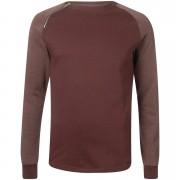 Troy Men's Dan Crew Sweatshirt - Fudge - L - Burgundy