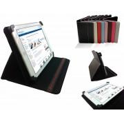 Unieke Hoes voor de Qware Tablet Pro 4 Slim 9.7 Inch , Multi stand Case, Rood, merk i12Cover