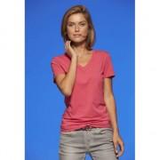 James & Nicholson Roze V-hals stretch shirtje dames