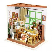 Robotime 3D Dreamy Dollhouse Puzzle DIY Miniature Furniture Kits Great Crafting Project for Boys and Girls (Ada's Studio)
