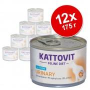 12 x 175 г Kattovit Urinary - 6 x телешко и 6 x риба тон