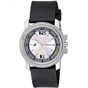 Fastrack Quartz Silver Dial Mens Watch-3039SP01